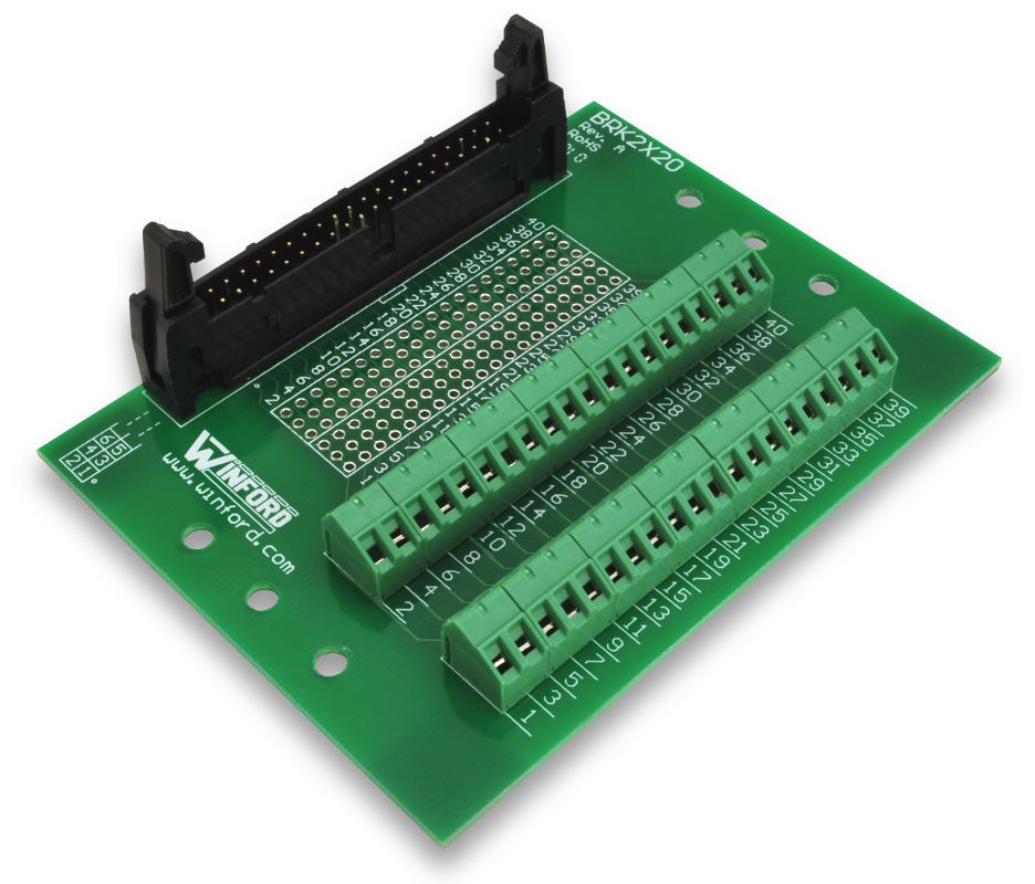 Ribbon Cable Breakout : Quot header position idc ribbon connector