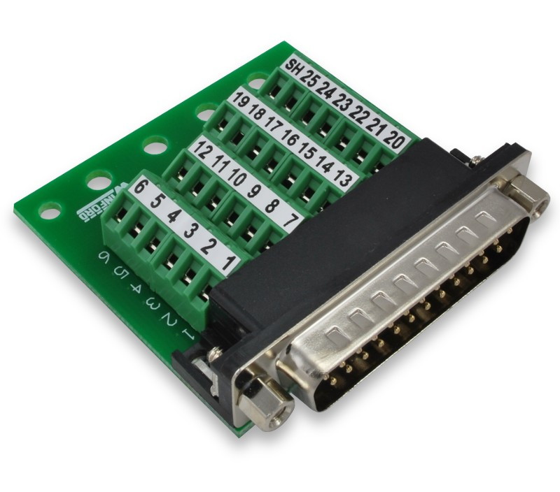 DB25 Slim Breakout Board with Screw Terminals Winford