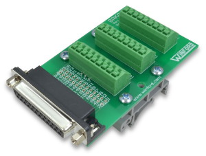 DB25 Breakout Board with Spring Connection Terminals - Winford